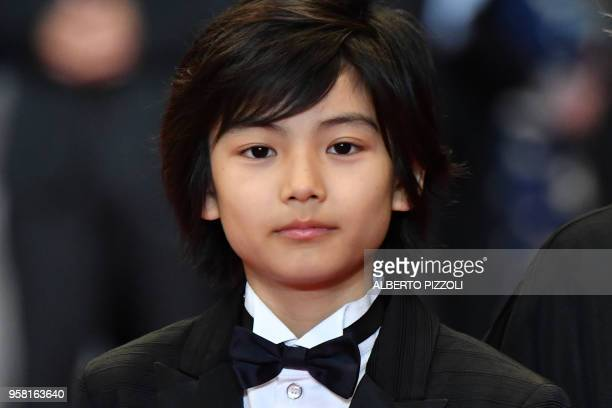 Japanese actress Jyo Kairi poses as he arrives on May 13 2018 for the screening of the film Shoplifters at the 71st edition of the Cannes Film...
