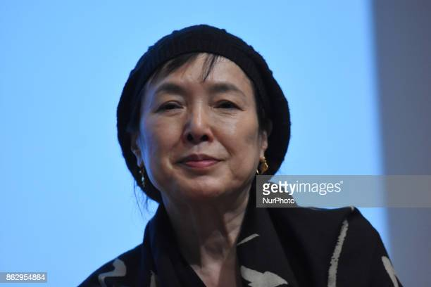 Japanese actress Kaori Momoi attending a press conference to promote the film 'The Room' and speak about of the Discrimination at Memory and...