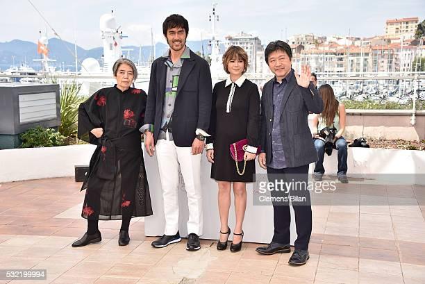 "Japanese actress Kilin Kiki, Japanese actor Abe Hiroshi, Japanese actress Maki Yoko and Japanese director Kore-Eda Hirokazu attend the ""After The..."