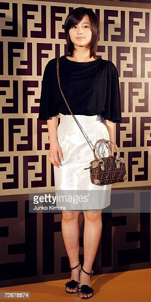Japanese actress Maki Horikita attends the Fendi party celebrating their new line of bags 'BMIX' which will be released in the spring/summer of 2007...