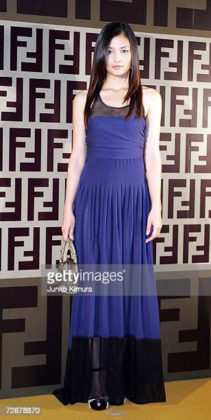 Japanese actress Meisa Kuroki attends the Fendi party celebrating their new line of bags 'BMIX' which will be released in the spring/summer of 2007...