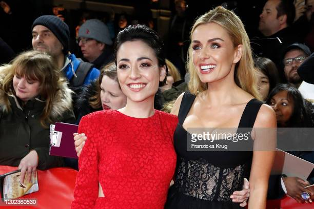 Japanese actress Minami and actress Katherine Jenkins arrive for the Minamata premiere during the 70th Berlinale International Film Festival Berlin...