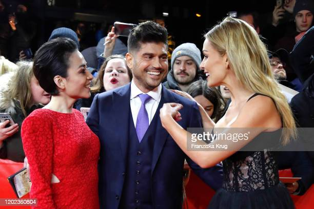 Japanese actress Minami Andrew Levitas and actress Katherine Jenkins arrive for the Minamata premiere during the 70th Berlinale International Film...