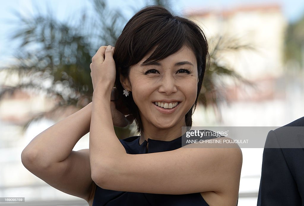 Japanese Actress Nanako Matsushima Gestures On May 20 2013 While News Photo Getty Images