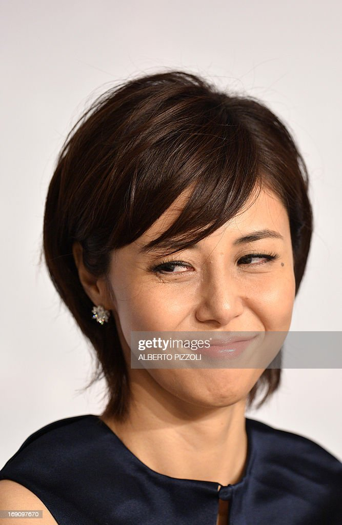Japanese Actress Nanako Matsushima Smiles On May 20 2013 During A News Photo Getty Images