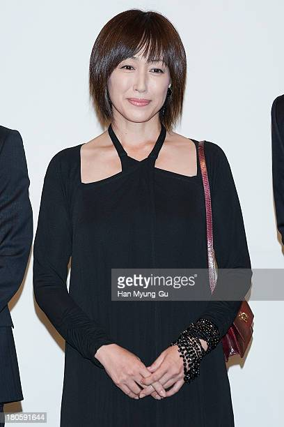 Japanese actress Reiko Takashima attends the wedding of Bae SooBin at The Shilla Hotel on September 14 2013 in Seoul South Korea