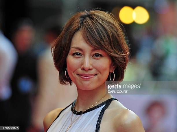 Japanese actress Ryoko Yonekura attends the world premiere of Diana in central London on September 5 2013 The film is a biopic of the late princess...