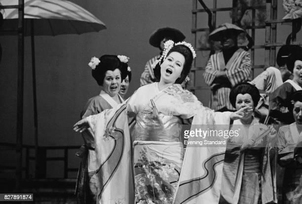 Japanese actress Yasuko Hayashi performing as Madama Butterfly at the Royal Opera House London 10th January 1975