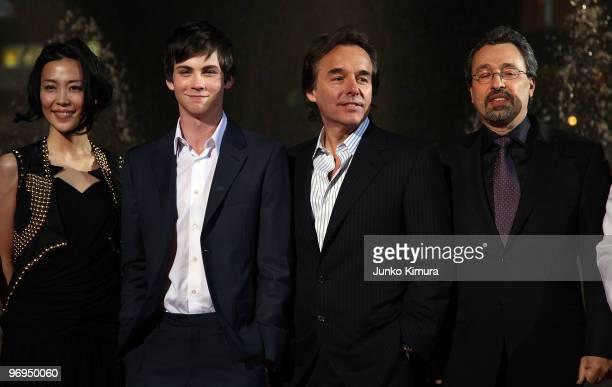 "Japanese actress Yoshino Kimura, Actor Logan Lerman, Director Chris Columbus and producer Michael Barnathan attend the ""Percy Jackson & The..."