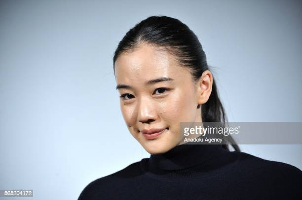Japanese actress Yu Aoi along with Japanese actress Anne Suzuki and Japanese movie director Shunji Iwai attend the 30th Tokyo International Film...