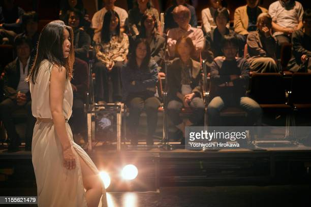 japanese actresses acting on the theater stage - theatrical performance stock pictures, royalty-free photos & images