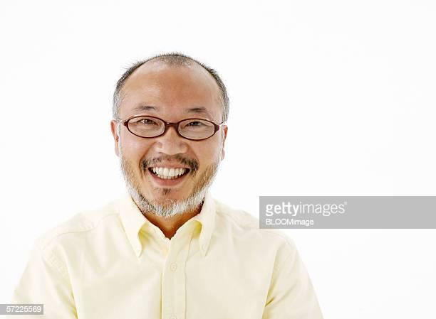 Japanese adult man smiling