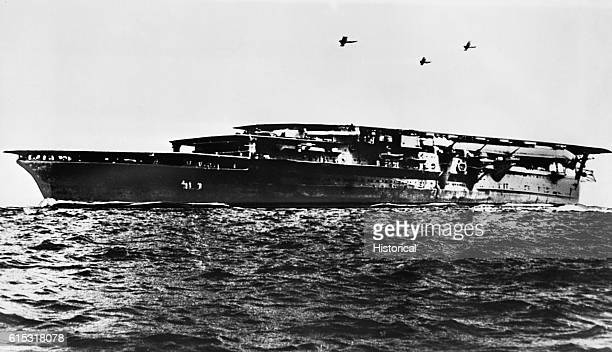 Japanese aircraft carrier of the Kaga class This is the type believed sunk in the Battle of Midway