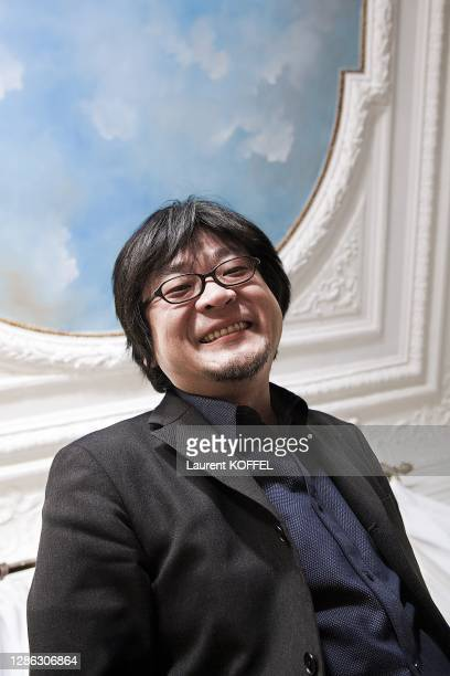 Japanese Animator and Director Mamoru Hosada portrait session in Paris in France on February 22, 2010.