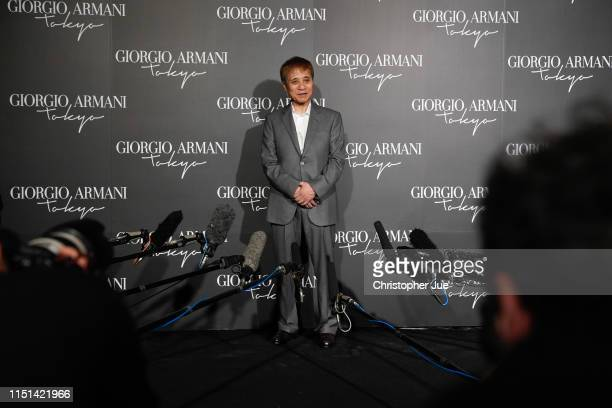 Japanese architect Tadao Ando is interviewed by the media at the Giorgio Armani 2020 Cruise Collection on May 24 2019 in Tokyo Japan