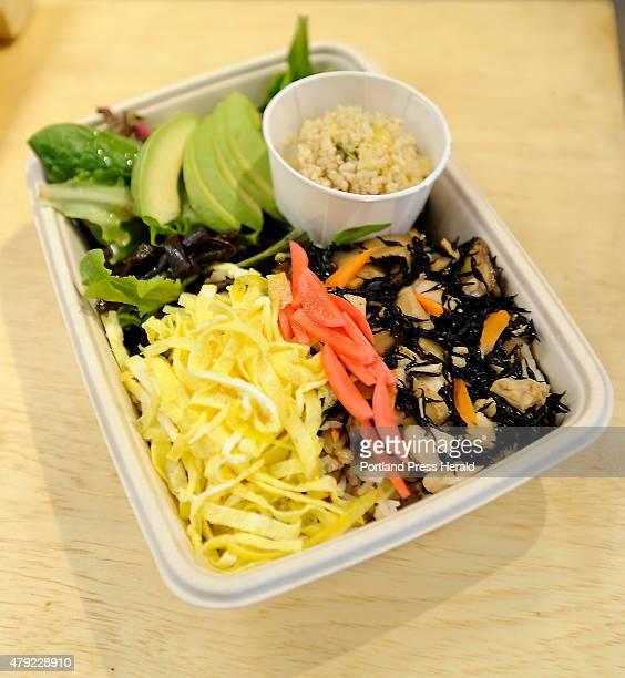Japanese Arroz con Pollo lunch special in a bento box at Ten Ten Pie on Cumberland Ave