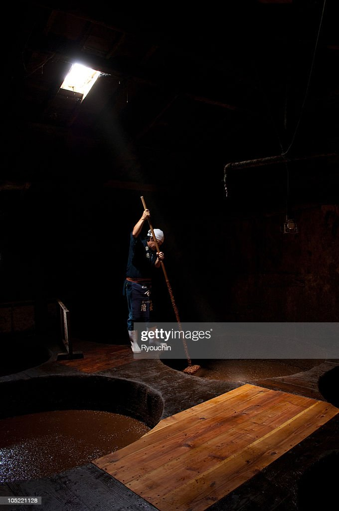 japanese artisan,tradition,soy sauce : Stock Photo