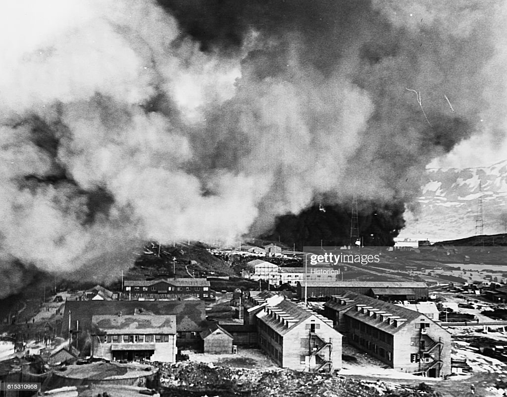 Japanese Attack on Dutch Harbor : News Photo