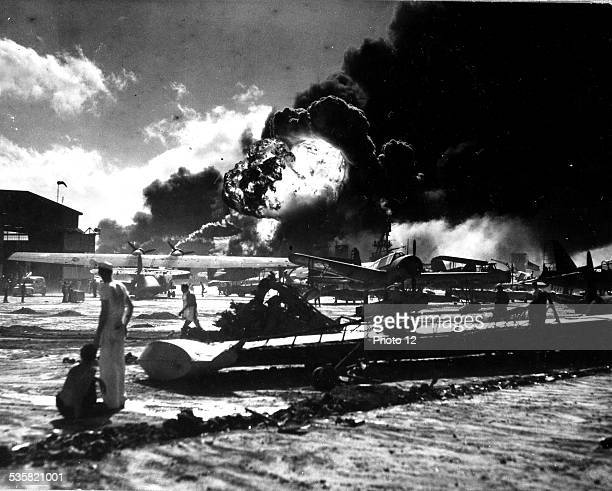 Japanese attack on Pearl Harbor December 7 World War II Washington National archives