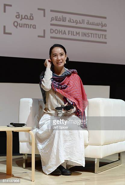Japanese auteur Naomi Kawase delivers a Qumra Master Class during day four of Qumra the second edition of the industry event by the Doha Film...