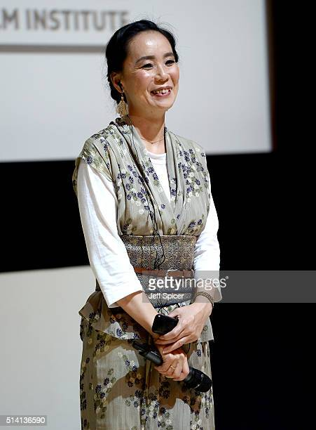 Japanese auteur Naomi Kawase participates in a question and answer session at a screening of 'The Mourning Forest' on day three of Qumra an industry...