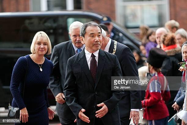 Japanese author Haruki Murakami arrives to the Hans Christian Andersen Literature Award presentation where he will receive the prestigious award at...