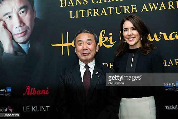 Japanese author Haruki Murakami together with Crown Princess Mary of Denmark during the H C Andersen Literature Award presentation to Murakami at...