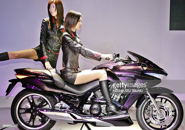 Japanese auto giant Honda Motor unveils a concept model of their automatic sports motorcycle the 'DN01' equipped with a 680cc Vtwin engine with a...