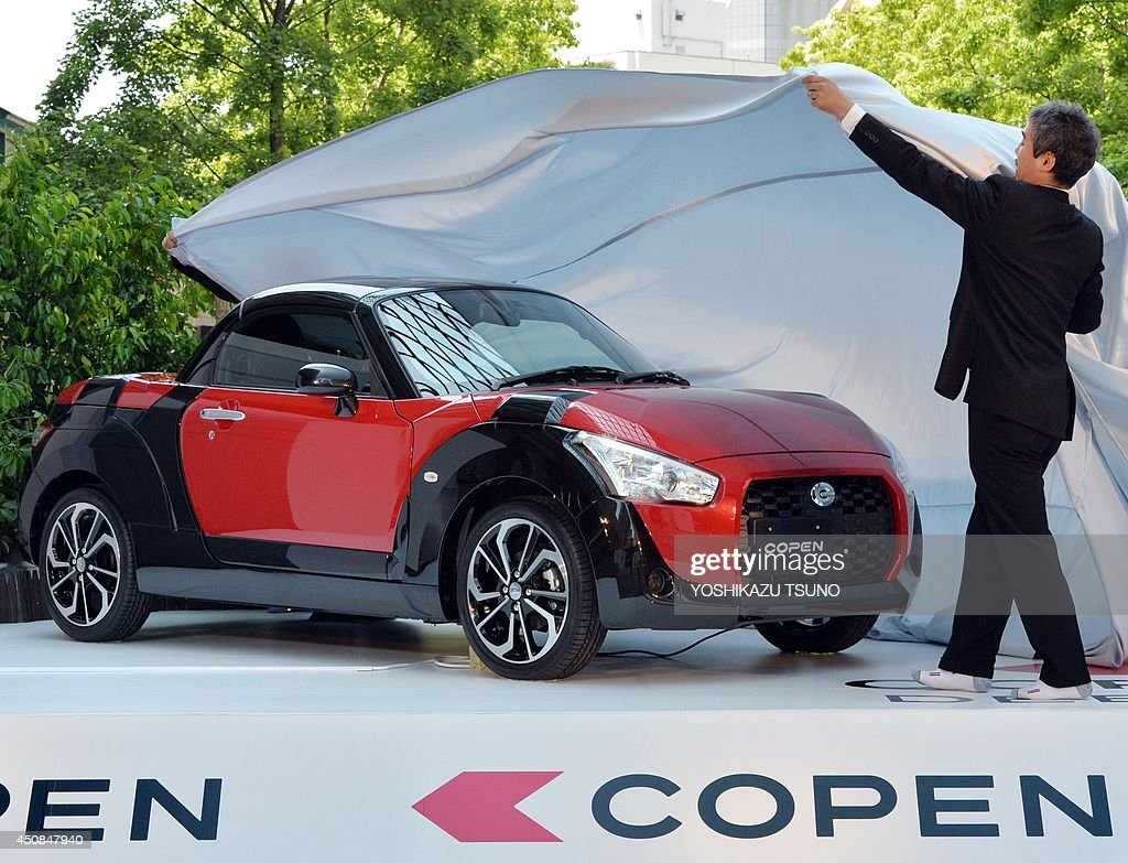 Japanese Automaker Daihatsu Unveil The New Lightweight Sports Car U0027Copenu0027  In Tokyo On June