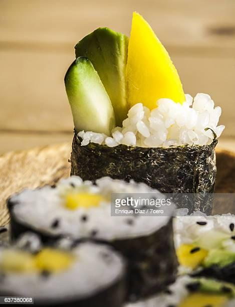 Japanese Avocado and Mango Sushi
