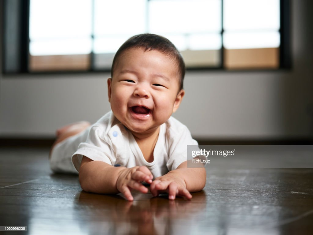 Japanese Baby Six Months Old : Stock Photo