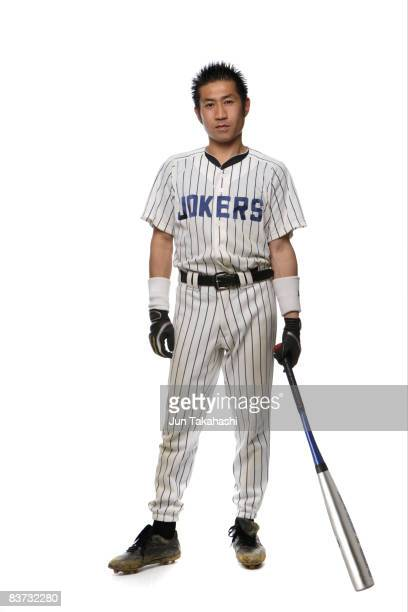japanese baseball player looking at camera - 野球選手 ストックフォトと画像