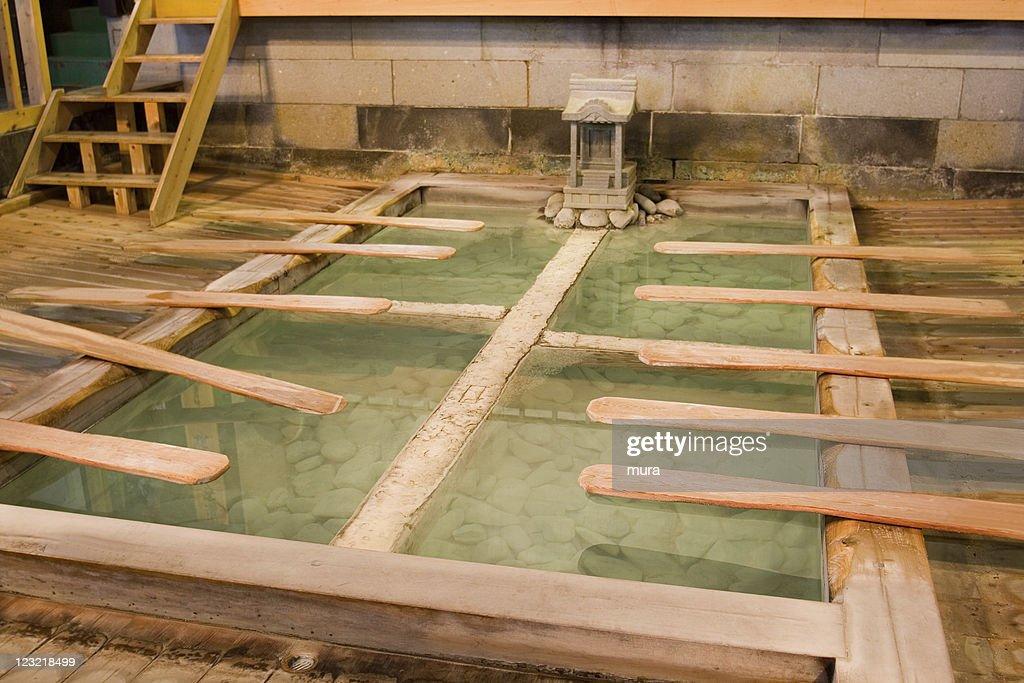 Japanese Bath Kusatsu Onsen Stock Photo   Getty Images