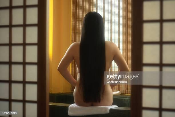 Japanese bath scene