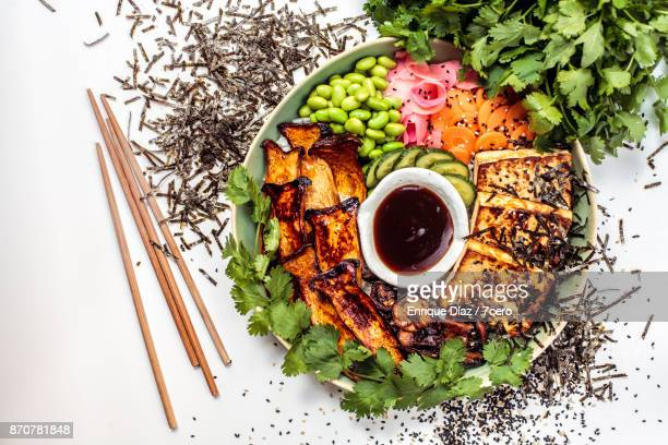japanese bbq bowl - pickled ginger stock pictures, royalty-free photos & images