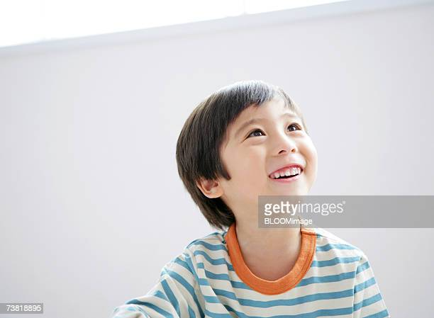 Japanese boy smiling
