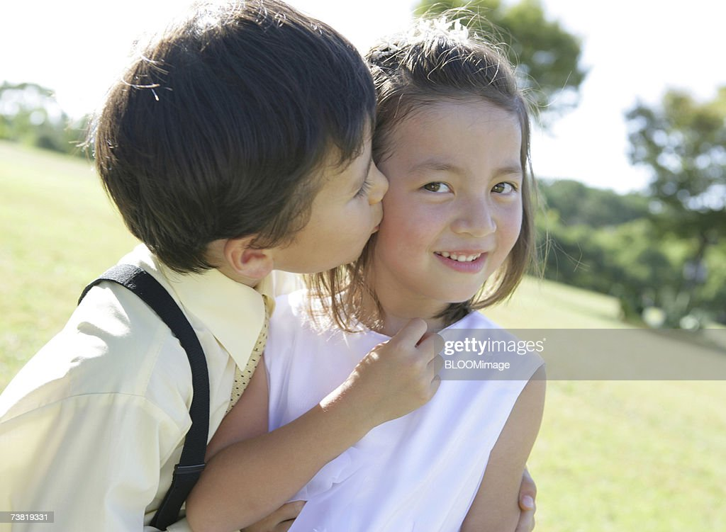 Japanese Boy Who Gives Kiss American Asian Girl Wearing -3891
