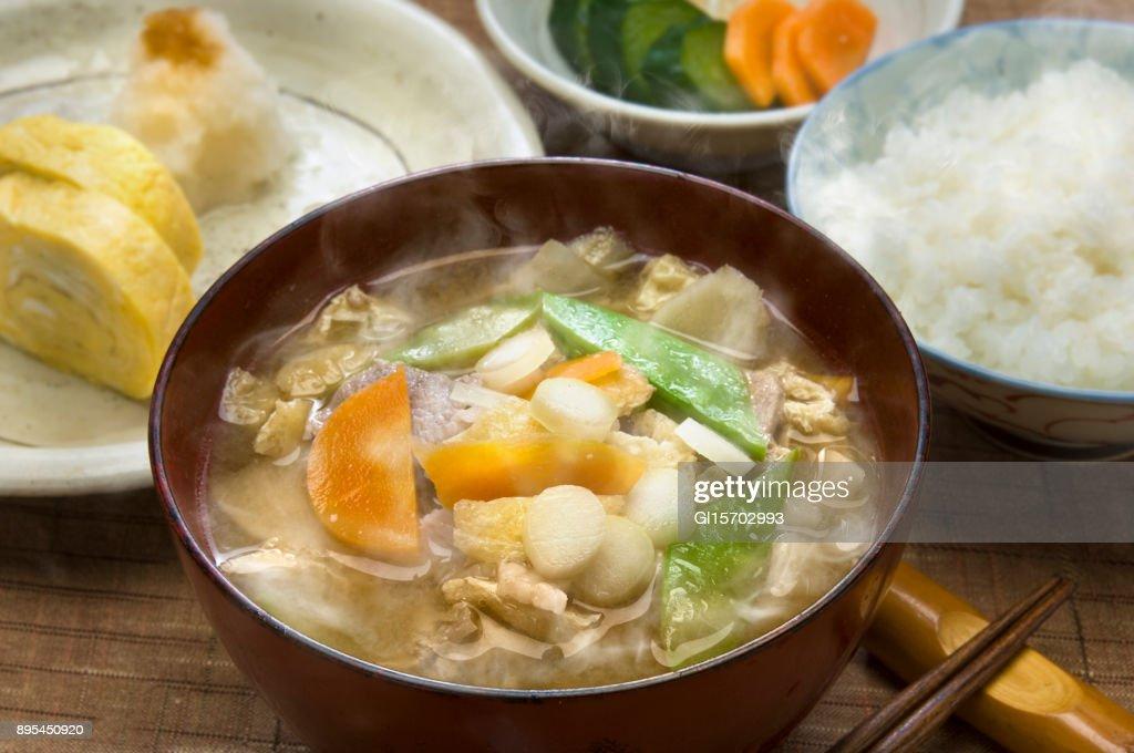Japanese breakfast : Stock Photo