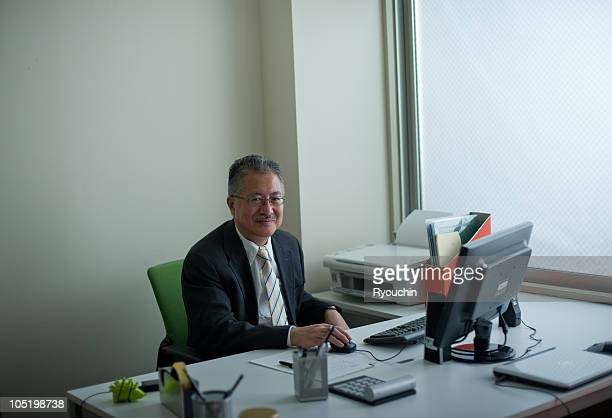 Japanese business man in the office