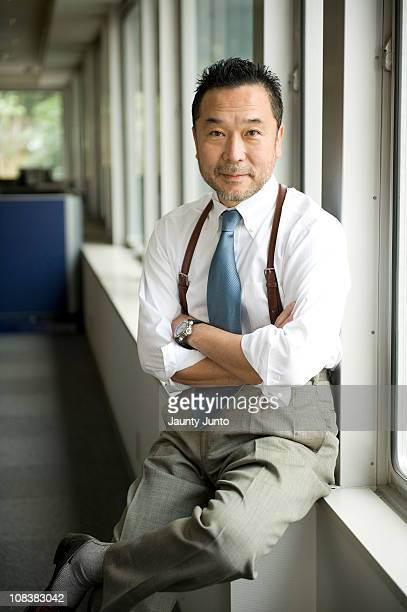 japanese business man portrait in the office