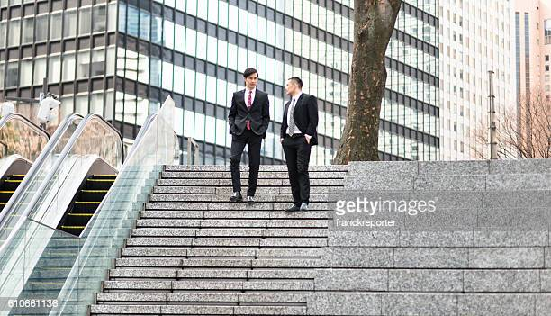 japanese Business on the steps in tokyo
