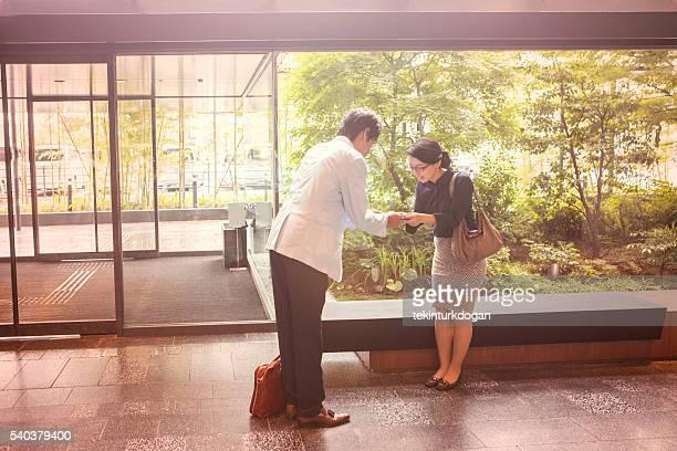 日本のビジネスパートナー および 京都日本を交換する