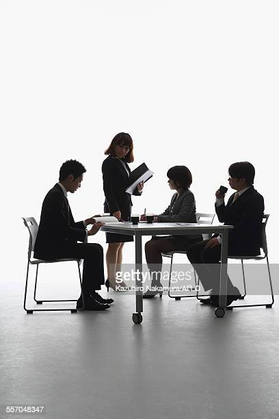 Japanese business people having a meeting