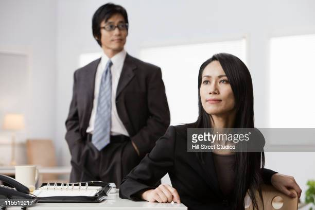 Japanese business people in office