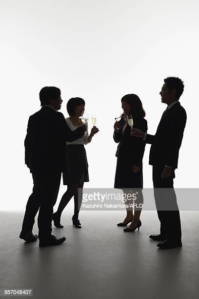 Japanese business people toasting
