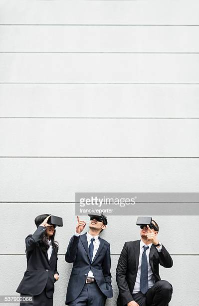 のを使用してビジネス人の VR シミュレータの街