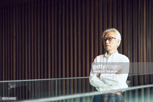 japanese business portrait - managing director stock photos and pictures