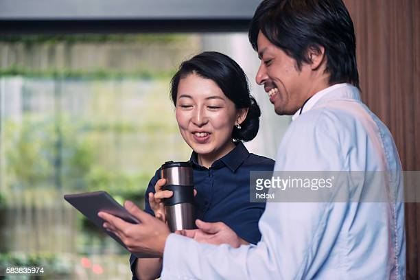 Japanese Businessman and woman