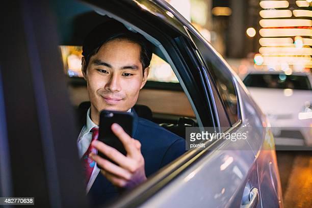日本のビジネスマン、お車でのご宿泊