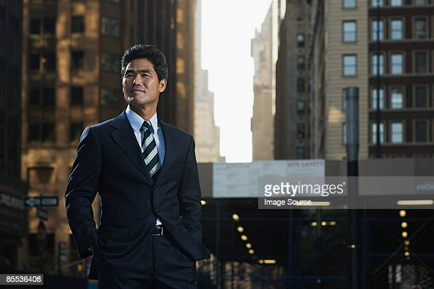 Japanese businessman in New York
